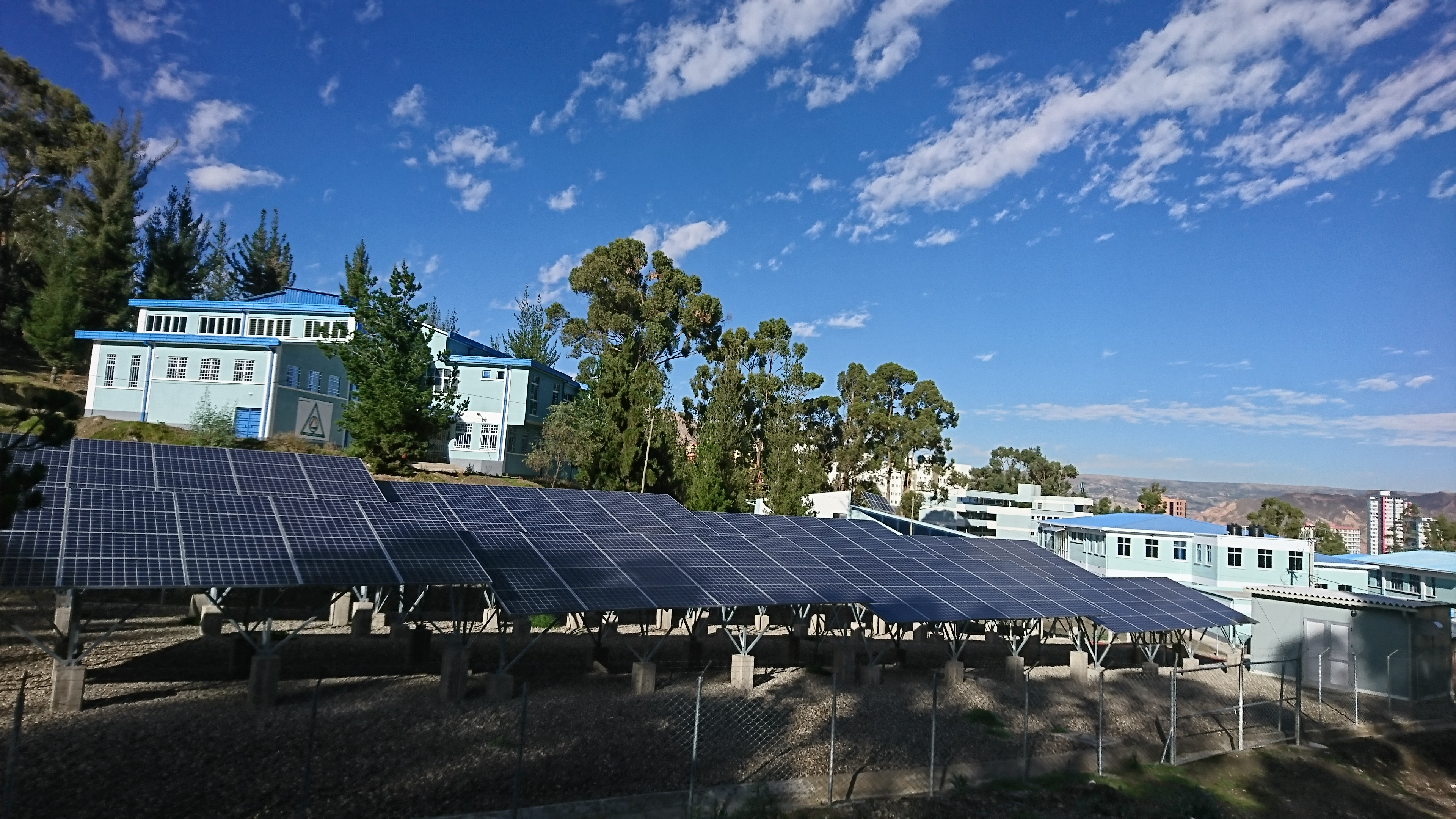 Solar power system at San Andres University