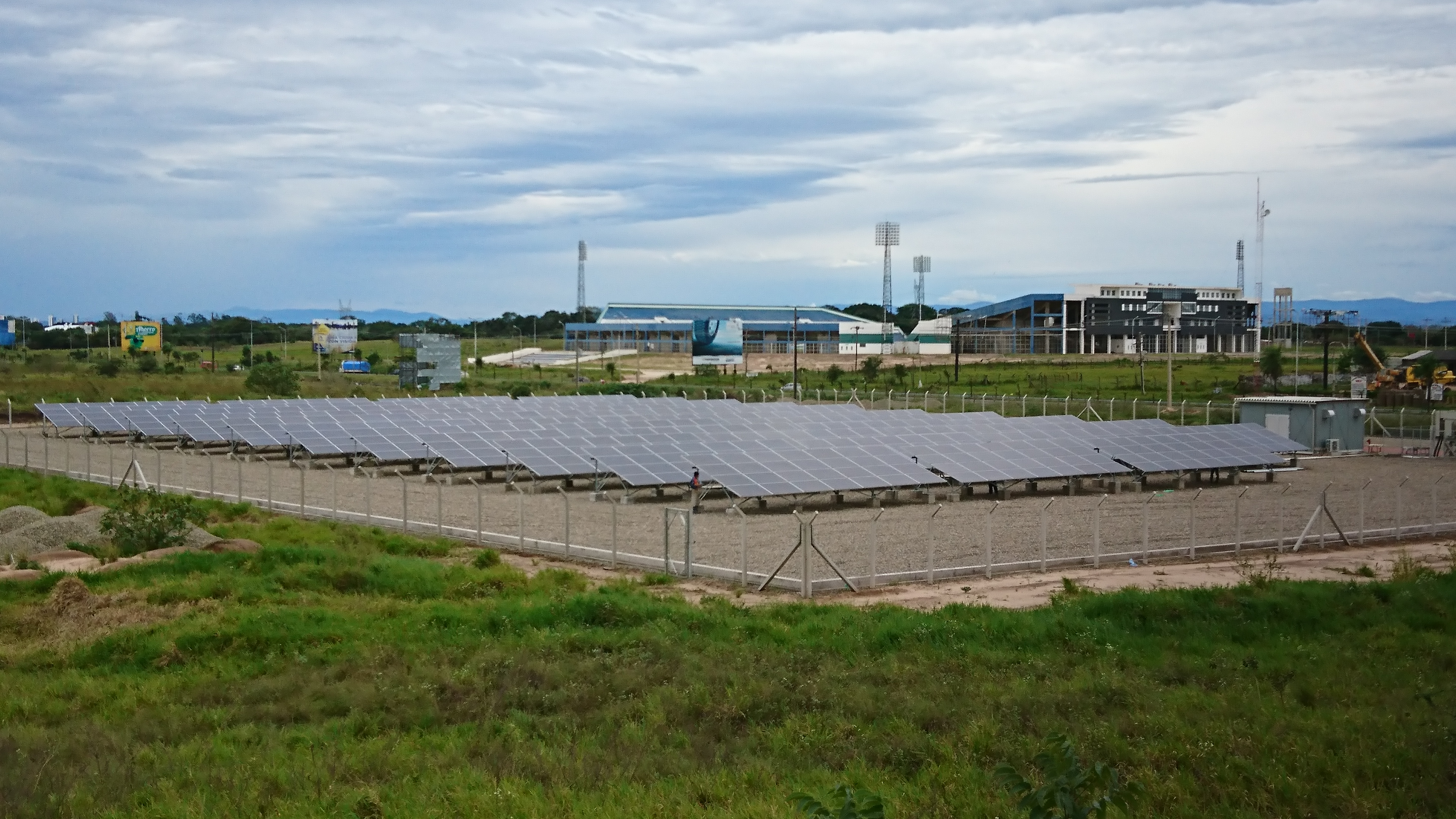 Solar power system at Vir Vir international Airport